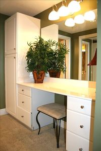 Master Dressing Area with Vanity... Lots of Space. Large Walk-In Closet.