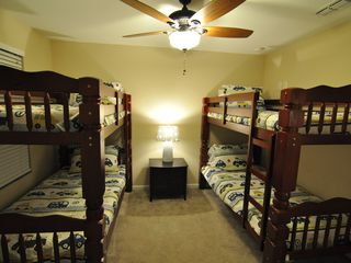 Windsor Hills house photo - Bedroom 6 - bunk beds with LCD TV