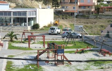 The playground next to the villa