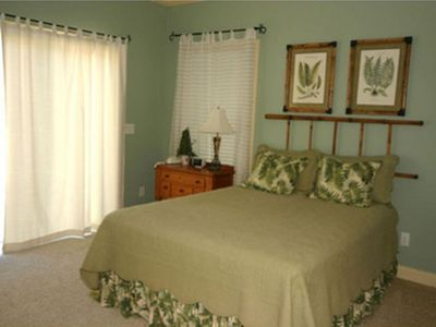 2nd Flr Master w/ Queen Bed, Private Bath w/ Jetted Tub. Faces Creek and Sundeck