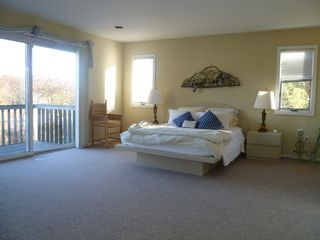 Westhampton house photo - Bedroom with Balcony and View
