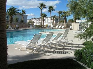 Las Vegas townhome photo - Pool with lounge chairs & Pool/Spa