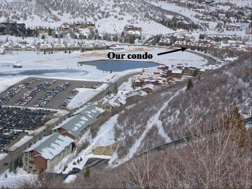 Location of Condo on Deer Valley Drive. Picture taken from Deer Hollow run