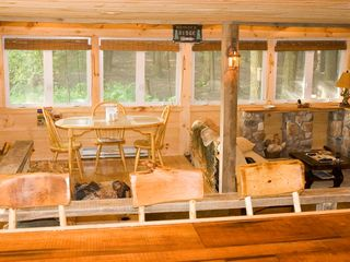 Bushkill cabin photo - Cabin with all Pine Wood inside and 12 Crank open windows