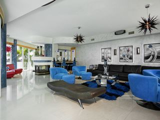 St Pete Beach house photo - 2nd floor living room, 72 in tv with surround sound,wet bar with fridge and ice