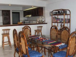 Large dining room seats 6. Breakfast counter with 3 stools - Bucerias townhome vacation rental photo