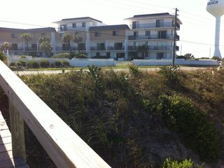 our condo complex from our private beach