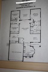 Indian Ridge Oaks villa photo - Floor Plan. Den is bedroom