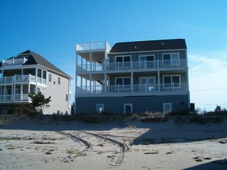 Broadkill Beach house photo - Facing beach...full deck...50 feet to water