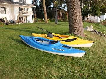 Two kayaks for your use.