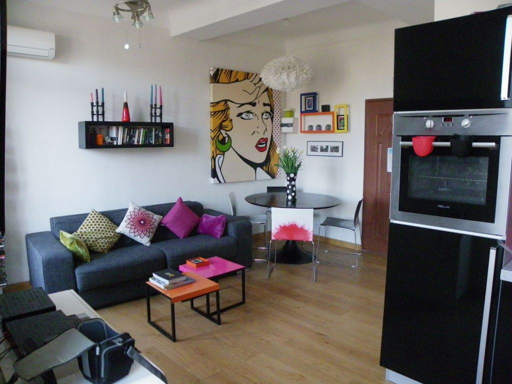 Jaures contemporary 1 bedroom apartment with balcony for I bedroom apartment