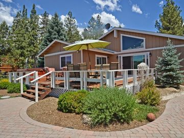 Ironwood Estates house rental - Lakeside deck with spa, deck, grill and seating