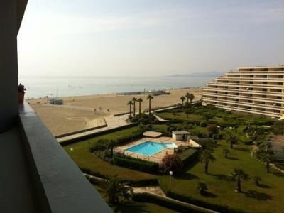 Apartment with big balcony facing the Mediterranean - The lobby is at the beach!
