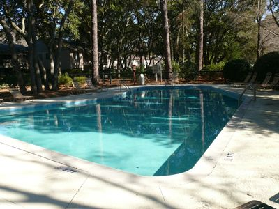Large outdoor pool in complex