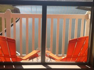 North Padre Island condo photo - Relax on your patio overlooking a salt water pond