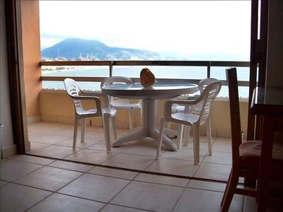 Enjoy your own private patio overlooking the ocean!