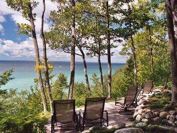 Harbor Springs house rental - serene terrace view