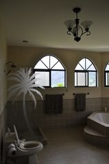 Ojochal house photo - Master suite bathroom. Dual sinks, private shower, tub.