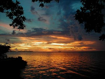 Islamorada house rental - The Sunset Afterglow many times is the biggest show