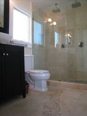 Corona del Mar house photo - Custom detailed master bathroom