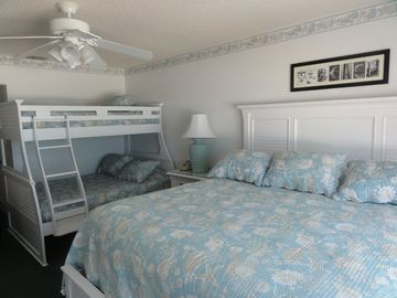 King Bed and Bunk Beds in Master Bedroom