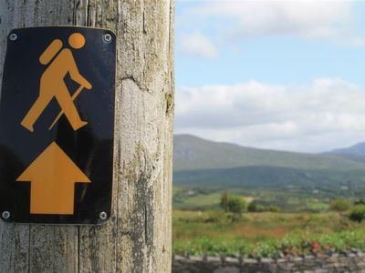 Beara Way Walking route - way marker on our road
