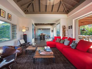 St Barthelemy villa photo - Villa Imagine - Sitting Room with Stunning Views
