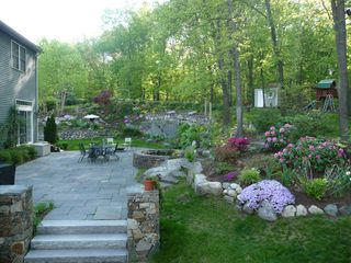 Boston house photo - Garden view on a sparkling morning in May
