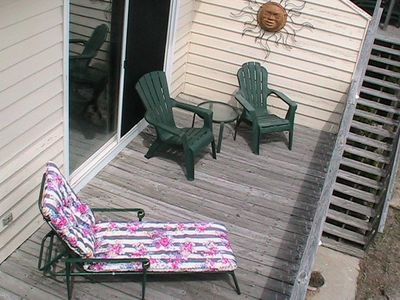Holden Beach townhome rental - View of oceanside deck