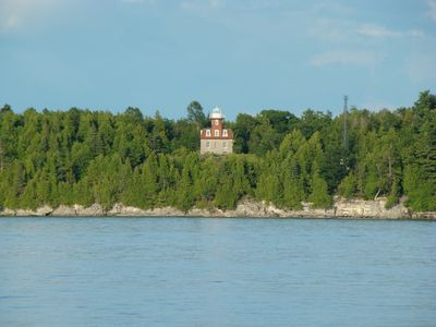 Valcour Island lighthouse right across from us