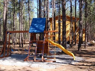 Williams cabin photo - The awesome playset, looking back at Raccoon Ranch