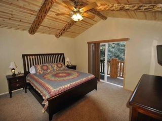 Moonridge cabin photo - Master Bedroom with Balcony