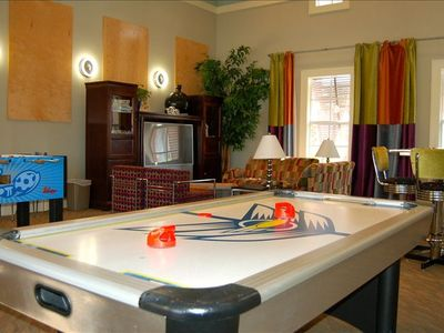 Kids play area with big screen TV, Foosball, Air Hockey, and board games.  FUN!!