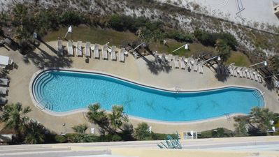 One of 2 lagoon shaped pools overlooking the beach! Fun 4 for the entire family
