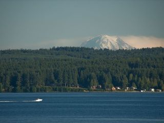 Brinnon house photo - Gaze at Mt Rainier, wildllife, and occasional submarines.