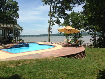Chesapeake City estate rental - Spectacular outdoor pool overlooking the beautiful Elk River!