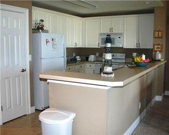 Fully Stocked Kitchen Has All of the Amenities