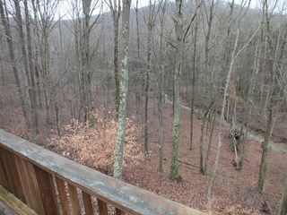 Brush Creek State Forest house photo - Rear Deck runs Full Length of Home & Overlooks Mountain Stream