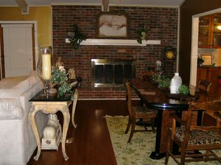 Arlington house photo - Beautiful Open Livingroom/Dining Area w/Fireplace