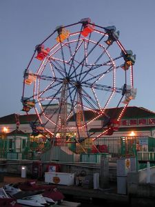 The Ferris wheel at the Fun Zone, just across the bay and a ferry ride away