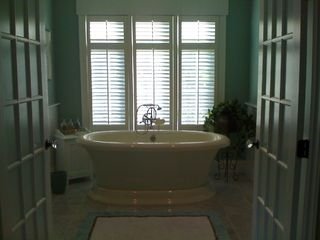 Centerville house photo - Master Bath-Luxury! Separate WC room, 2 sink areas, lg shower-Deep soaking tub!