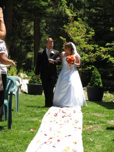 A beautiful bride on one of Lake Tahoe's beautiful summer days!
