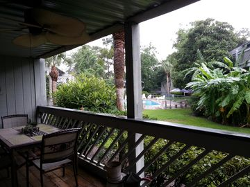 St. Simons Island condo rental - Deck patio view