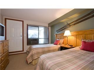 Whistler townhome photo - Second Bedroom w Ensuite Looking onto Patio Overlo