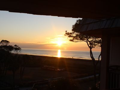 Sunrise from our Oceanfront balcony!