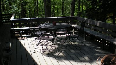 Deck with grill and patio table & chairs