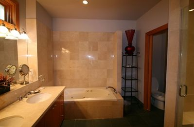 2nd Fl Large Master Bathroom w/ Jetted Tub, Shower and Private Toilet Room