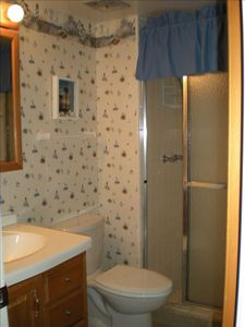 New Smyrna Beach condo rental - Master bathroom