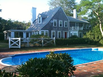 Wellfleet estate rental - Antique home with pool, poolside gazebo and tennis court.