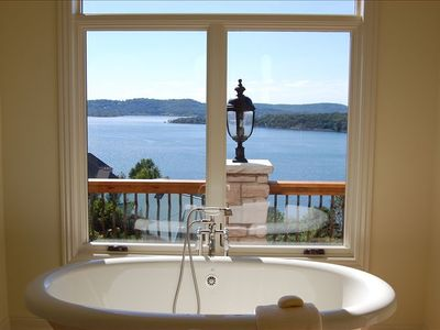 Your View from the Master's Bath with a Bain Ultra Jetted Pedestal Tub